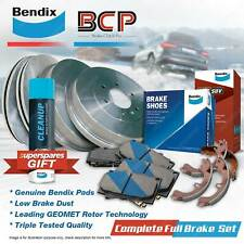 F+R BCP Brake Rotors Drums Bendix 4WD Pads Shoes for Toyota Hilux KUN26 3.0L
