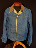 VINTAGE 1970'S WRANGLER MADE IN USA  BLUE COTTON DENIM JACKET SIZE LARGE