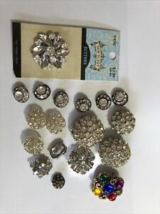 Vintage To Current group lot 18  Rhinestone buttons