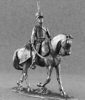 Pewter Miniature Hussar of Russian Army Napoleonic Wars Metal Toy Soldiers 54mm