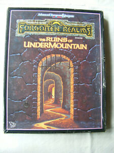 AD&D2E Ruins Of Undermountain Boxed Set (Forgotten Realms) TSR + Bonus Adventure