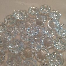 12 x 15mm Clear Crystal Effect Plastic Buttons #112