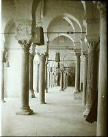 TUNISIE Kairouan Mosquée c1910, Photo Stereo Vintage Plaque Verre VR5L1