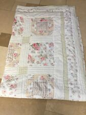 Large American Quilt - fully reversible - pink and green pattern