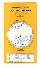 Slide Chart, Ge Lighting Estimator, free shipping (S1193)