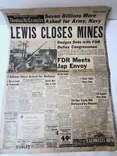 Boston Traveler Newspaper 1941 World War 2
