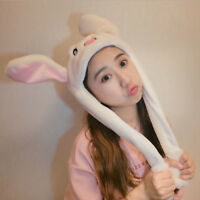 Attractive Kids Cuddly Moving Ear Rabbit Hat Dance Plush Toy For Gifr FE  _