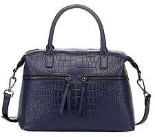 """Thompson Luxury Bags """"Arleen"""" Rindleder Croco-Prägung Tasche Handtasche UVP 178€"""