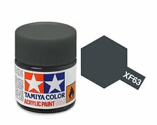 Tamiya 81763 XF-63 German Grey 10ml Acrylic Flat Paint Color Mini Bottle Model