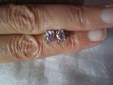 Rose De France Amethyst stud earrings, 1.34 carats, 1.39 grams of 925 Sterling S