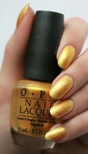 "OPI Euro Centrale ""OY ANOTHER POLISH JOKE!"" Gold Shimmer Nail Polish Lacquer E78"