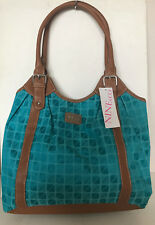 NEW! NINE & CO NINE WEST MIDTOWN SHOPPER HOBO BAG TOTE PURSE IN MIAMI BLUE $55