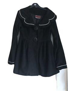 Hell Bunny-jawbreaker Rockabilly/vintage Black Coat Size S Brand New