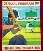 1971 Hank Aaron HR #631 Vintage Baseball Program Atlanta Braves Chicago Cubs mlb