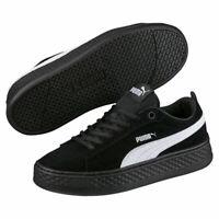 Puma Smash Platform SD Damen Plateau Sneaker schwarz Suede Neu! OVP
