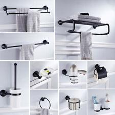 Черный аксессуаров для ванной наборы настенный держатель полотенца для ванной фурнитура