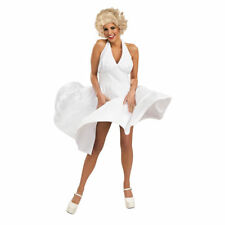 Adult Marilyn Monroe White 50s Hollywood Starlet Halloween Costume INCLUDES WIG