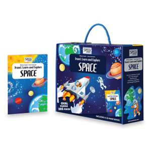 Sassi Travel, Learn and Explore - Puzzle and Book Set - Space, 205 pcs 6+