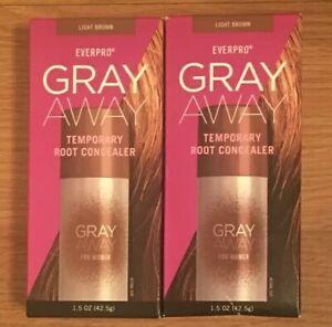 2x Everpro Gray Away Women Temporary Root Concealer,Light Brown