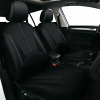 9X Universal Car Seat Covers Black PU Leather Set Cushion 5 Seats Full Protector