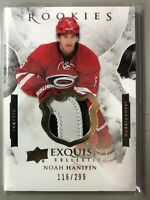 2015-16 Exquisite Collection Noah Hanifin Rookie 3 Color Patch /299