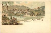 Gruss Aus Waldshut Germany Chain Ferry Boat c1900 Postcard EXC COND