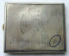 1941 KINGDOM YUGOSLAVIA cockade Serbia Croatia navy WW2 CIGARETTE CASE medal WK2