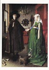 Jan Van Eyck The Marriage of Arnolfini Postcard unused VGC