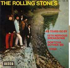 """ROLLING STONES """"AS TEARS GO BY"""" ORIG FR EP 1970 (RARE RE) M-/M-"""