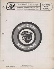 1974 ARCTIC CAT SNOWMOBILE WANKEL PANTHER  PARTS MANUAL (030)