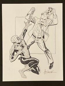 2018 NYCC Spider-Man vs Chameleon 11 X 14 Original Art Commission by Alex Saviuk