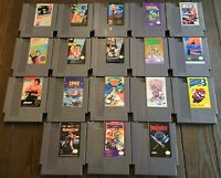Original Nintendo NES You Pick & Choose Video Game Lot-TESTED-Buy 3 Get 1 FREE!