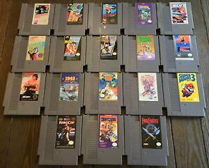 Original Nintendo NES You Pick & Choose Video Game Lot-TESTED-Buy 3 Get 1 FREE!