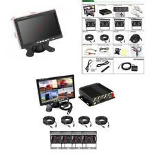 7'' HD 4CH Car DVR Monitor 4* 720P Camera Recorder Dash Cam For Truck Van Bus