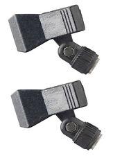 2 x Universal Mikrofonklammer auch für Funkmikrofone Mikrofon Halterung