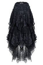 Dark in Love Fishnet & Lace Asymmetrical Skirt Gothic Witchy Punk KW106