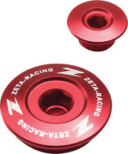 ZETA Aluminum Red Engine Plug Set 2 Pieces For Suzuki DRZ400 S/SM/E 00-15