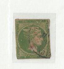Greece 1868-69 Hermes head 5 l yellow-green (Hellas 25a) (289/460)