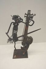 "12"" Nuts and Bolts Upright Bassist Figure Sculpture- Signed and Dated 1969"