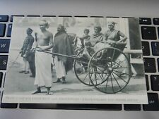 More details for ceylon old postcard ginrickshas  rickshaws native coolies sri lanka london 1908