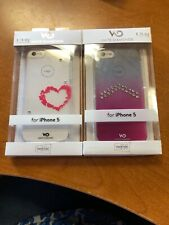 iPhone 5 Case White Diamonds Crystal Case, Swarovski Elements, Lipstick Heart