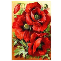 DIY 5D Diamond Embroidery Painting Cross Stitch Kit Flower Animal Home Decor FP
