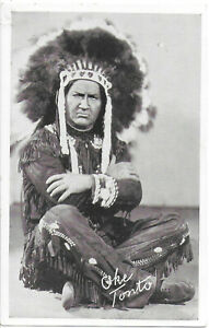 Advertising Photo Postcard of The Tonto in Lone Ranger Radio Show 1940s