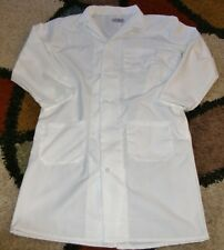 """Unisex Chef Jacket Coat French Knot Buttons 3 Pocket 42"""" Length White Size M/L"""