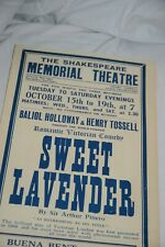 SWEET LAVENDER WW2 SHAKESPEARE MEMORIAL THEATRE POSTER Stratford RSC Pinero