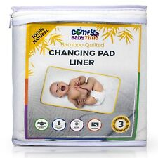 Changing Pad Liners 3 Extra Large Waterproof Soft Bamboo Washable Table Liners t