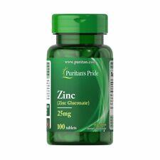 Zinc 25mg - Gluconate - (100 tabs.) Puritan's Pride