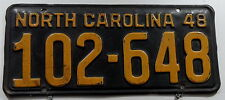 Oldie Nummernschild USA aus North Carolina von 1948. 13290.
