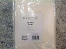Your Zone Ruffled Curtain Panel Vanilla 42in X 95 Rod Pocket