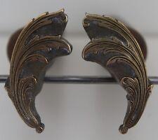 Paire de Grands Fers à Dorer Fleuron modèle XVIIIe s. Bronze Reliure Dorure #41